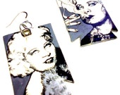 Mae West hand painted quote earrings