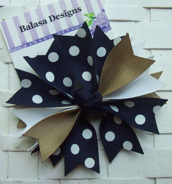 Boutique Back to School Uniform Colors Spike Hair Bow