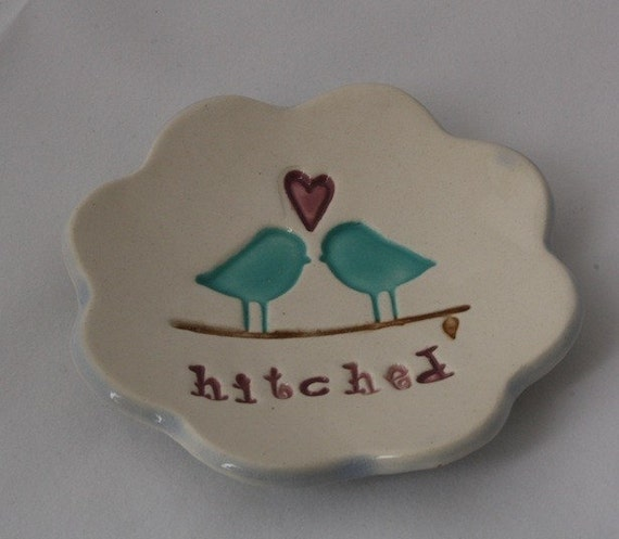 Hitched Love Birds Ring Bowl