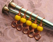 Yellow Double Duty Stitch Marker set