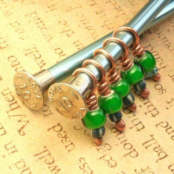 Not Easy Bein' Green Stitch Marker set