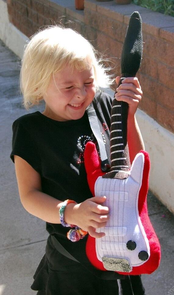 Mini Plush Guitar