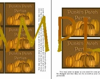 Fall Punkin Patch Perties Labels