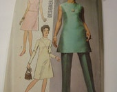 Groovy 1970 Simplicity Pattern 9062 DRESS, Tunic and Pants Size 12 Bust 34