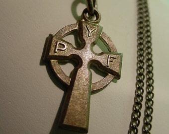 vintage Sterling Silver Cross Necklace