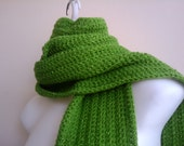 Bright Green Scarf Extra Long Sparkle QUINN