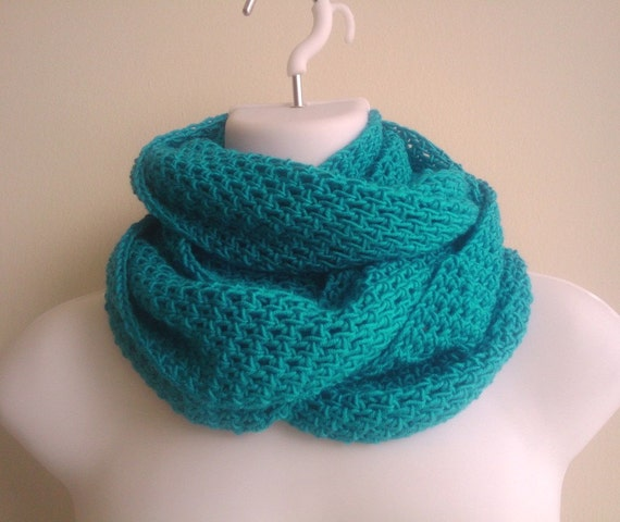 Aqua Blue Infinity Scarf Ocean Turquoise ARIA Free Shipping