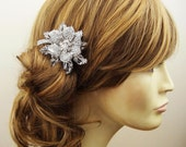 Vintage Bridal Hair Comb, Crystal Wedding Hair Comb, Wedding Bridal Hair Accessories, Crystal Flower Bridal Head Piece, MIRANDA