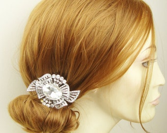 Vintage Bridal Hair Comb, Art Deco Wedding Hair Comb, Wedding Hair Accessories, ASTRID