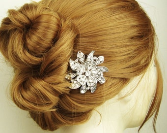 Victorian Style Bridal Hair Comb, Crystal Wedding Hairpiece, Vintage Bridal Hair Accessories, Wedding Hair Comb, MIRABELLE