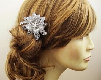 Vintage Bridal Hair Comb, Crystal Wedding Hair Comb, Wedding Bridal Hair Accessories, Crystal Flower Bridal Head Piece, MIRANDA