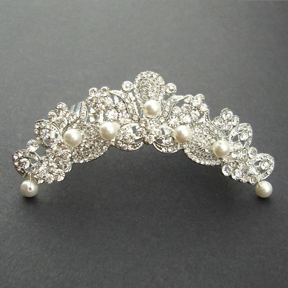 Bride Wedding Crown: Bridal Tiara Wedding Crown Bridal Headpiece Vintage Wedding