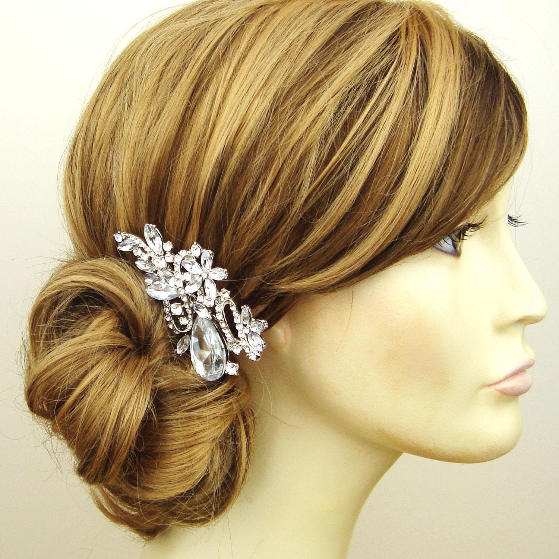 Wedding Vintage Style Hair Accessories: Crystal Bridal Hair Comb Wedding Comb Vintage Style By