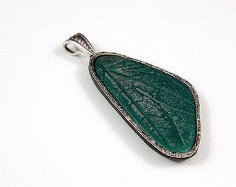 Tutorial polymer clay pendants, silver bezel, silver framed pendants, leaf imprints, instant download