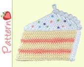 Piece of Cake Potholder, Crochet Pattern pdf, A Cute and Whimsical Project