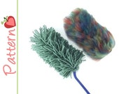 Duster Hand Held Eco Replacement Refill Cover, Crochet Pattern pdf, Fuzzy or Fringed