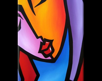 Original Abstract painting Modern pop Art Contemporary large Portrait FACE by Fidostudio - Precision
