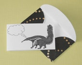 Analytical Anteater - Set of 5 Mini Notecards and Envelopes
