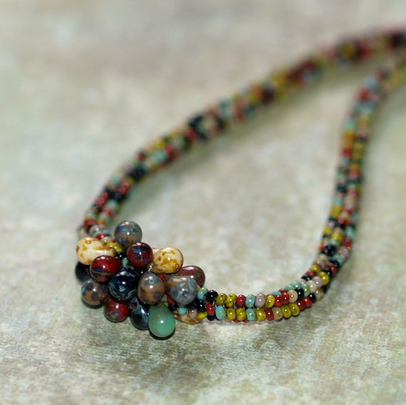 Indian Corn - Ndebele Rope Necklace in Autumnal Colors