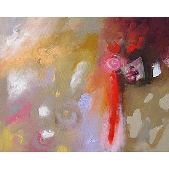 Original Painting Abstract Expressionist Modern Art WITHOUT CAUSE by Linda Monfort