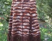 Vintage 1970s Gypsy Sweater Poncho Cape