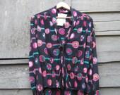 Vintage 1980s Emanuel Ungaro Silk  Blouse