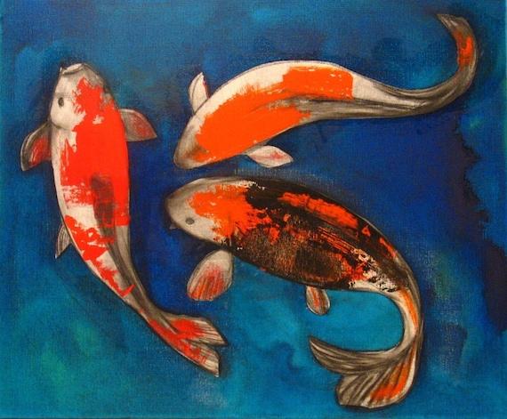 Original Painting Mixed Media Acrylic Charcoal Abstract Art by Aisyah Ang