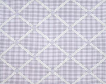 Lavender White Gingham French Ribbon Memo Message Board