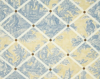 Waverly Country Life Toile French Memo Board Lake Blue Yellow