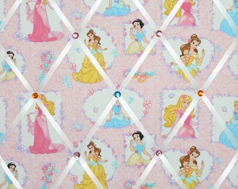 French Ribbon Memo Board made with Disney Princess Fabric
