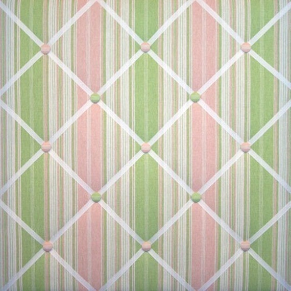 Down The Road Petal Pink Green White Stripe French Memo Board