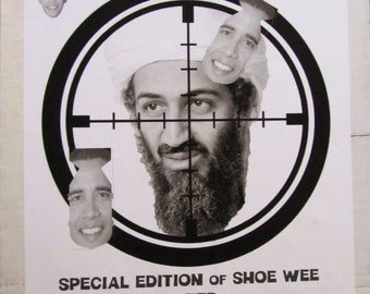 Special Edition Obomba Osama Shoe Wee a game by Uncle Mitchell
