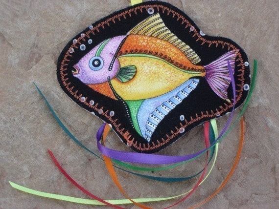 Filled with Organic Catnip--Tropical Fish With Ribbon Streamers