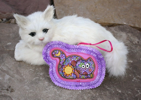Organic Catnip Toy--Purr-ty In Purple And Hot Pink