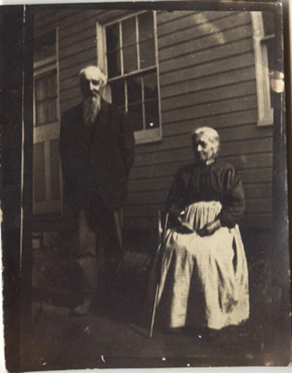 Elderly couple on farm Joe and Leah