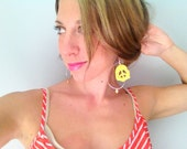 Summertime Yellow Peace And Pretty Charming Earrings