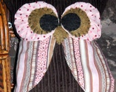 SALE   Brown and Pink Owl