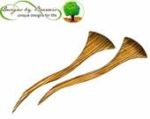 FanDainGo   Pair of Hair Sticks   Choose Wood Species   Choose Length   Baerreis Hair Fork   Shawl Pin