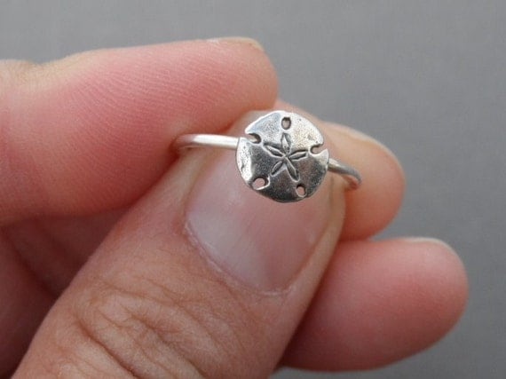Mini Sand Dollar Sterling Silver Ring
