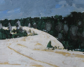 Coyote Hill, Original Landscape Painting on Paper, Canada