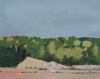 Development, Original Landscape Painting on Paper, Canada