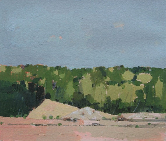 Development, Original Landscape Painting on Paper, Canada