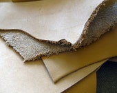 Leather scrap - half pound - cream, blond