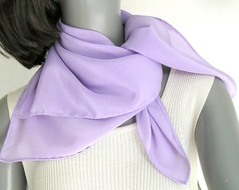 Small Square Scarf, Neck Silk Scarf, Lilac Scarf, Lavender Scarflette, Silk Square Scarf, Hand Dyed Silk, Artisan Handmade, Artinsilk