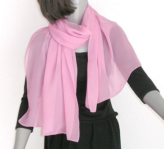 Light Pink Shawl Lavender Pink Wrap Hand Dyed Scarf One Of