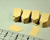 Kraft Card Stock Paper Tags  1.25 inch x 5/8th inch