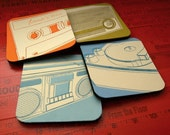 Lunastrella (Music) Series Square Coasters - Set of 4