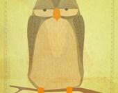 "Owl Art Print- The Sensible Owl Print 11""x14"" Woodland Nursery Art for Kids Room Owl Decor- Girls Nursery Owl Wall Decor- Art for Girls Room"