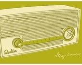 Lunastrella Radio Print 8 in x12 in