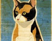 """Calico Cat Print 8"""" x 10"""" Cat Lover Gift- Cat Art Print- Cat Wall Decor- Cat Wall Art- Cat Print- Calico Cat Gifts- Gifts for Wife"""